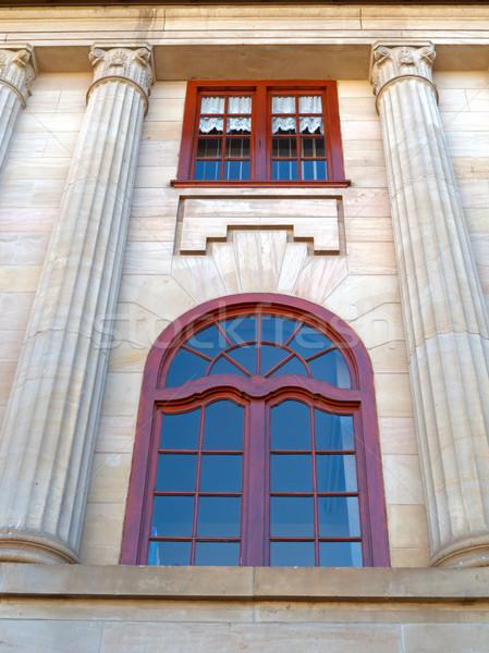 Zandsteen gebouw oude historisch bouw Stockfoto © EcoPic