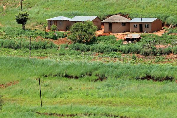 Rural settlement Stock photo © EcoPic
