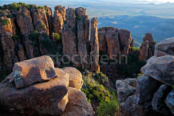 Tal Verwüstung Park Südafrika Berg rock Stock foto © EcoPic
