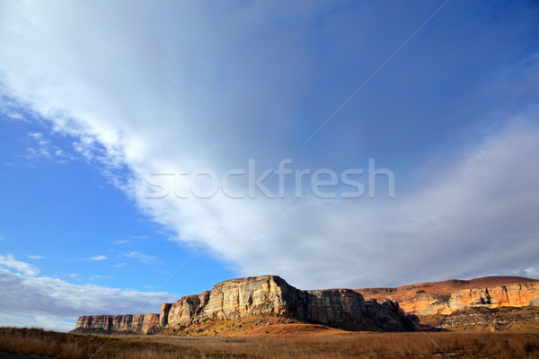 Arenito rocha céu blue sky nuvens golden gate Foto stock © EcoPic