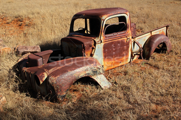 Rusty old pickup truck Stock photo © EcoPic