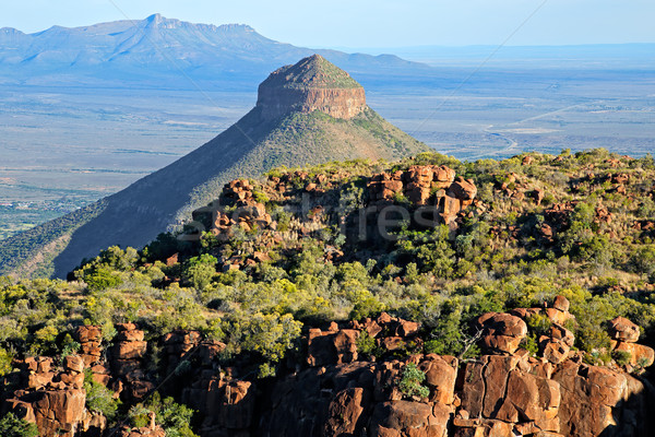 Vallei park South Africa hemel berg Stockfoto © EcoPic