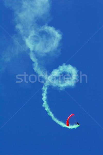 Parachutist aerobatics Stock photo © EcoPic