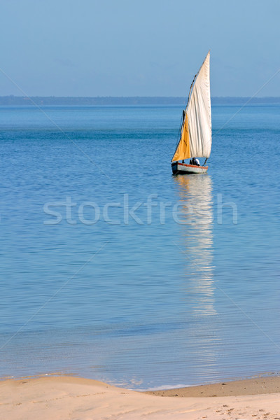 Mozambican dhow Stock photo © EcoPic