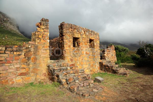 Ruiny budynku mgły stary budynek domu struktury Zdjęcia stock © EcoPic