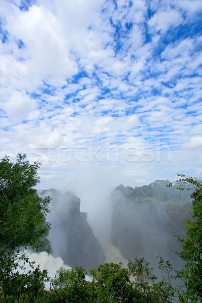Cascata Zimbabwe view fiume meridionale africa Foto d'archivio © EcoPic