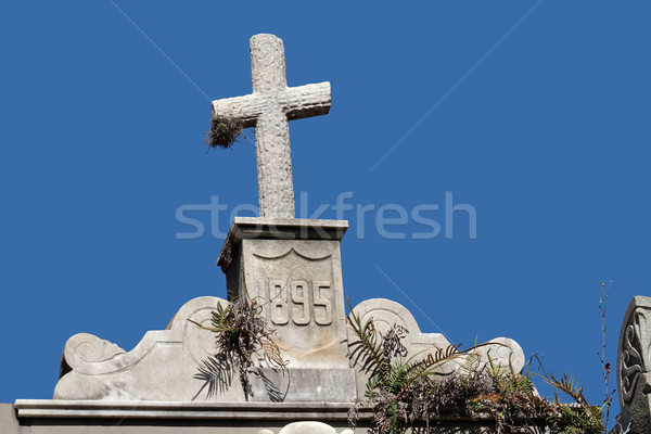 Tomb stone cross Stock photo © EcoPic