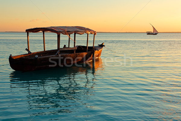 Boat at sunset Stock photo © EcoPic