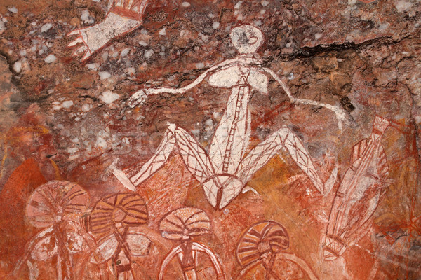Aboriginal rock art Stock photo © EcoPic