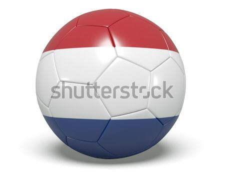 Soccer/football with a Netherlands flag on it. Stock photo © edgeofmadness