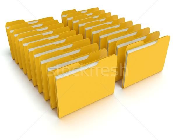 папке файла 3D графических оказанный белый Сток-фото © edgeofmadness