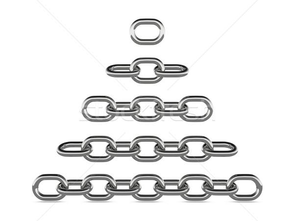 金属 チェーン コンセプト グラフィック レンダリング 白 ストックフォト © edgeofmadness