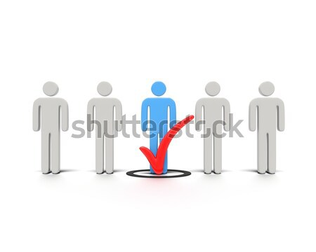 Characters with check mark concept. Stock photo © edgeofmadness