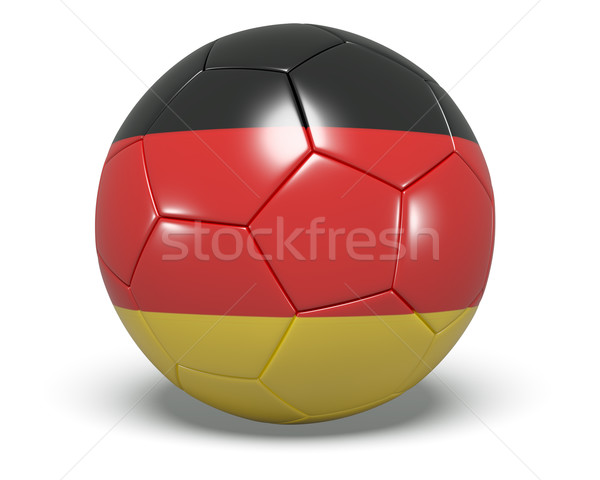 Soccer/football with an German flag on it.  Stock photo © edgeofmadness