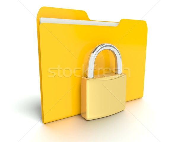 Stock photo: Security - Folder or Files