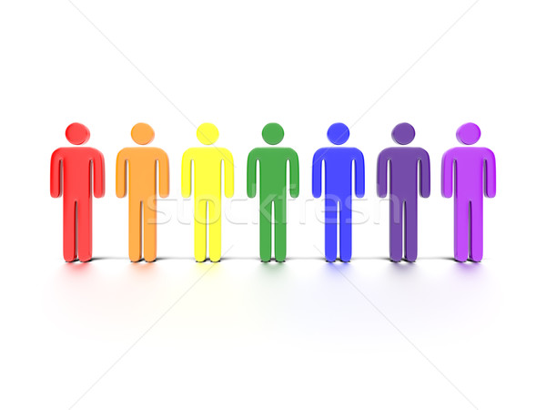 Colorful Characters Concept Stock photo © edgeofmadness