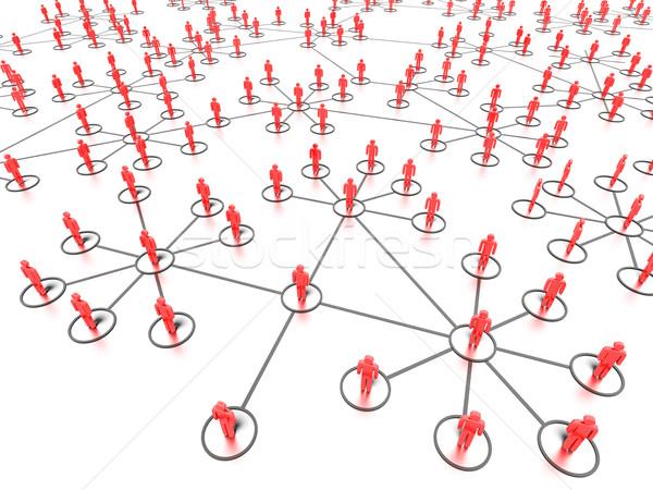 Stock fotó: Hálózatok · emberek · grafikus · közösségi · média · renderelt · fehér
