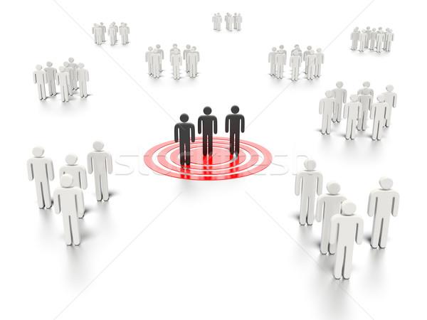сетей люди графических оказанный белый Сток-фото © edgeofmadness