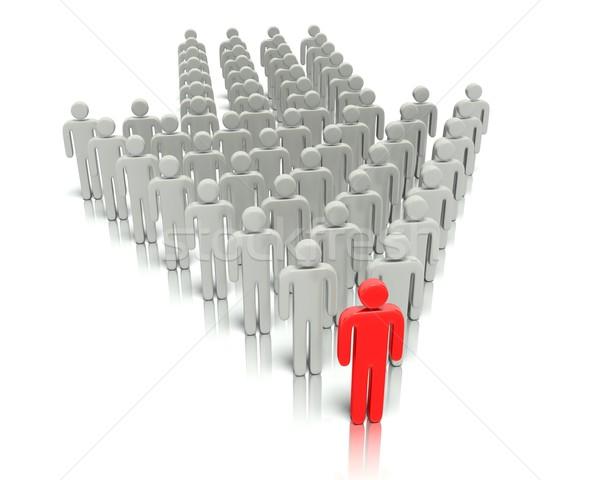 リーダーシップ 組織 3D グラフィック チームワーク レンダリング ストックフォト © edgeofmadness