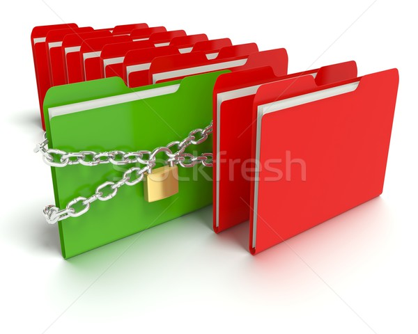Security - Folder or Files Stock photo © edgeofmadness