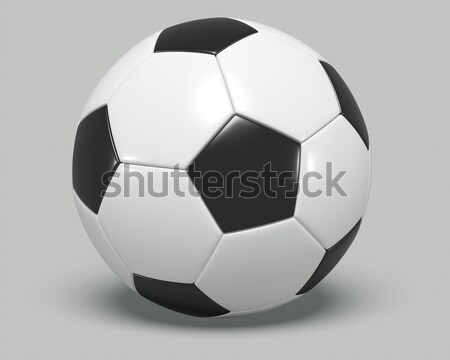Soccer/football with black and white on it.  Stock photo © edgeofmadness