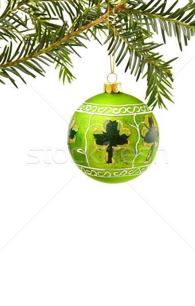 Irlandês natal quadro verde shamrock Foto stock © Eireann