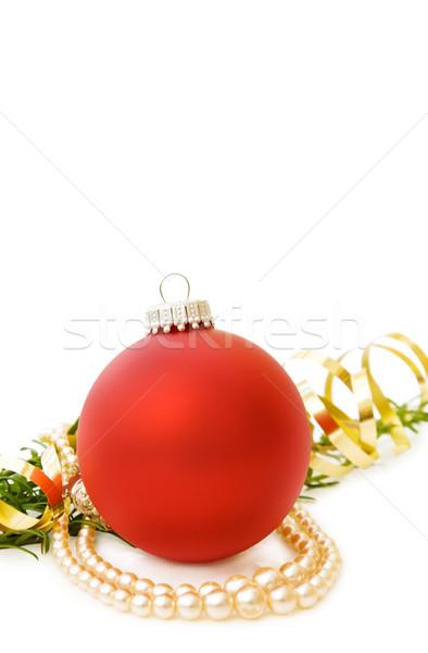 クリスマス 赤 安物の宝石 真珠 祝う 松 ストックフォト © Eireann
