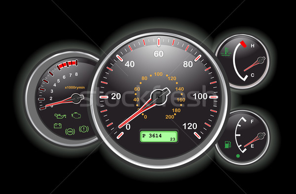 Car speedometer dial Stock photo © Eireann