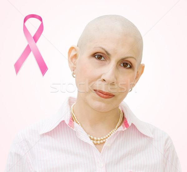 Câncer de mama paciente fita retrato real mulher Foto stock © Eireann