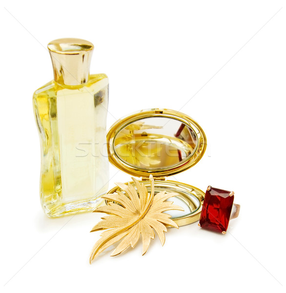 Luxury gift with perfume and jewellery Stock photo © Eireann