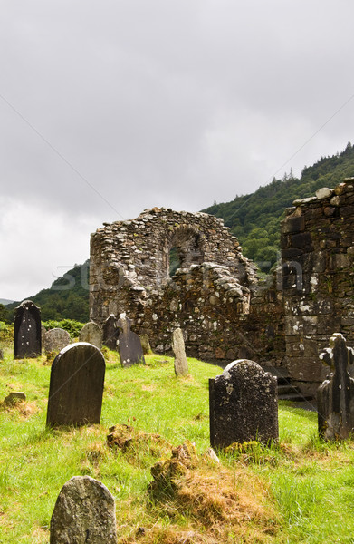 Church ruins at Glendalough Heritage Center Stock photo © Eireann