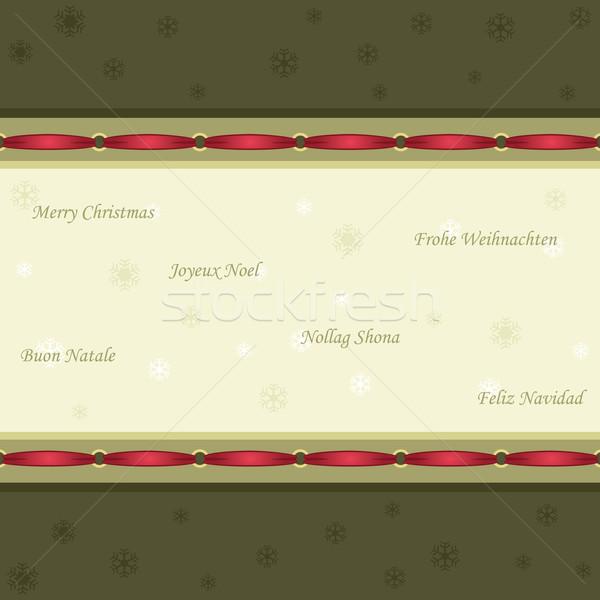 Christmas vintage stylu czerwony Zdjęcia stock © Eireann