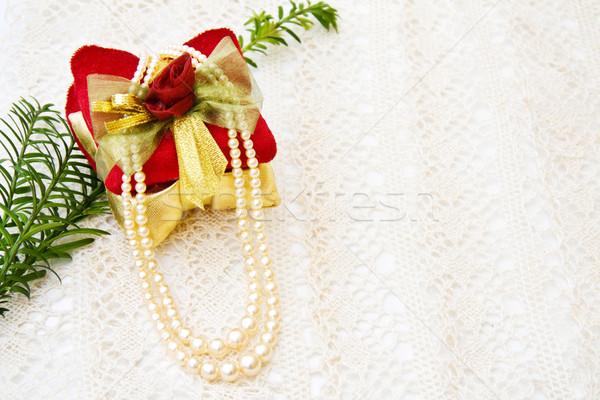 クリスマス ギフト 装飾 真珠 祝う ヴィンテージ ストックフォト © Eireann