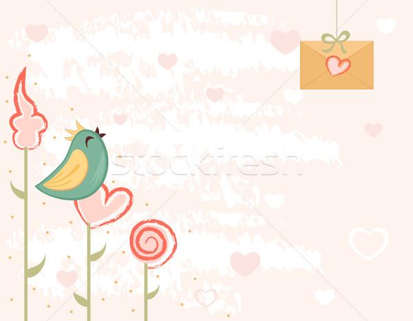 バレンタインデー カード を祝う 愛 手紙 歌 ストックフォト © Eireann