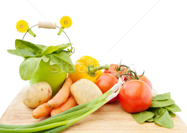 野菜 新鮮な 庭園 孤立した 白 ストックフォト © Eireann