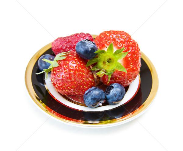 イチゴ ブルーベリー 果物 喜び デザート ラズベリー ストックフォト © Eireann