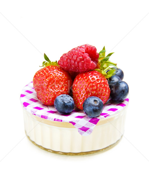 Strawberry and yogurt desert Stock photo © Eireann
