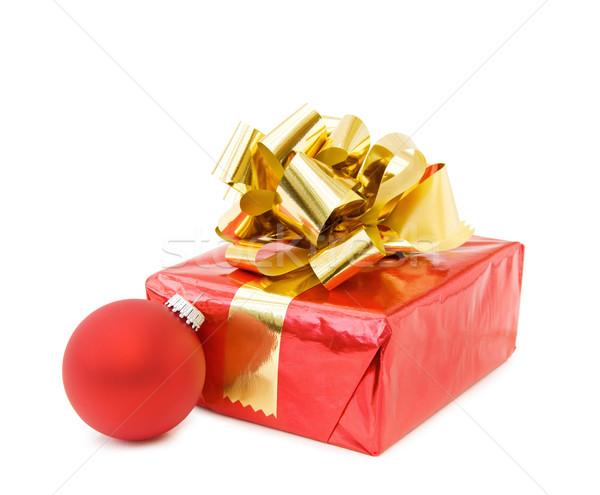 ünnepi karácsony ajándékok piros csecsebecse ünnepel Stock fotó © Eireann