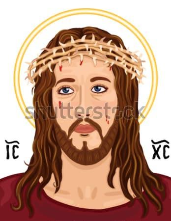 Wielkanoc krzyż religijnych karty Jezusa grecki Zdjęcia stock © Eireann