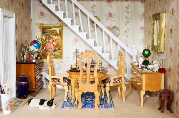 Bambole casa sala da pranzo Foto d'archivio © Eireann