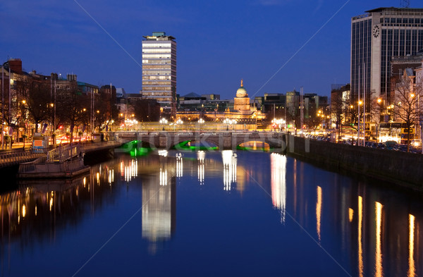 Sunset over Dublin city Stock photo © Eireann