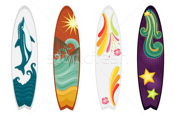 Surfboards set of four  Stock photo © Eireann