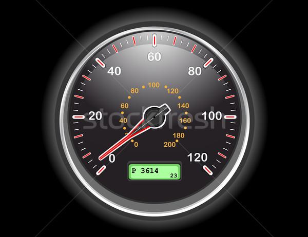 Carro velocímetro discar noite eps Foto stock © Eireann