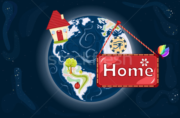 Home Sweet Home - The Earth Stock photo © Eireann