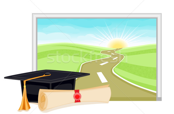 Graduation bright future Stock photo © Eireann
