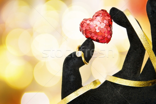 Love card with diamond ring Stock photo © Eireann