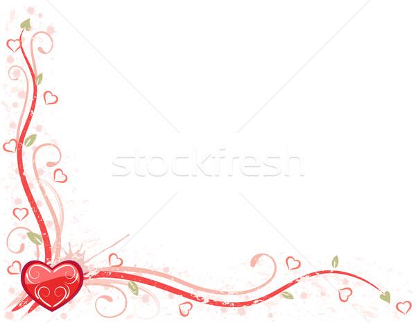 Valentine dia cartão sujo vermelho coração Foto stock © Eireann