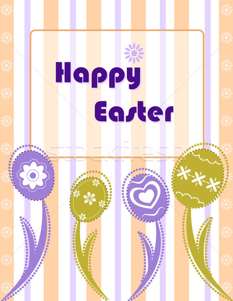 Easter greeting card with eggs Stock photo © Eireann