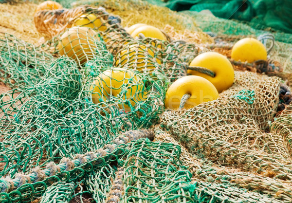 Stock photo: Fishing ropes with floats