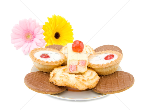 Doces bolos biscoitos sobremesa prato chocolate Foto stock © Eireann